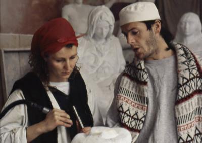 Sophia Lefebure, Parisian, recently arrived in Pietrasanta with her boyfriend Fred, also a sculptor, working in the studio Palla.