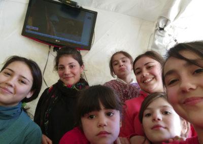 Chian 15, Nalin 17, Larin 8, Meyede 16, Yara 11, Stervan 7, Nesrin 19, from Kobane.